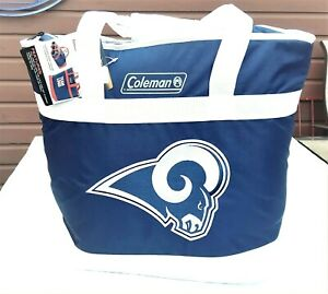 COLEMAN NFL LOS ANGELES RAMS INSULATED COOLER BAG TOTE X-LARGE SIZE SOFT SIDED