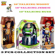 Disney Toy Story lot of 3 TALKING Woody Jessie Buzz Lightyear Action figure Doll