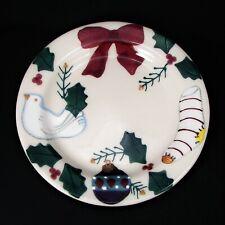 Hartstone Christmas Traditions Dessert Salad Plate Holiday Cookie Dish Vintage