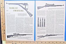 1976 The Enfield Model 1917 Battle Rifle Part 2-of-2 4-Pg Magazine Article 9525