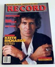 Revue US RECORD 12 11/83 KEITH RICHARDS EURYTHMICS COSTELLO THE FIXX EDDY GRANT