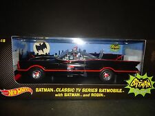 Hot Wheels Batmobile 1966 with Batman and Robin figures 1/18 DJJ39