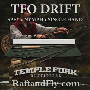 TFO Drift 3wt  Fly Rod Trout Spey/ Nymph/ Single - Lifetime Warr - FREE SHIPPING