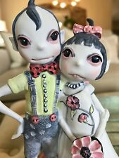 Helen Kish Love & Kishes Wedding Cake Topper Freeklings Felix and Petunia Bride
