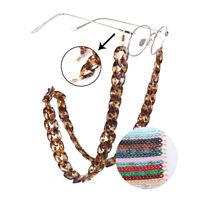 Bunter Acryl Brillen Kette Sonnenbrille Strap Keeper Twist Sonnenbrillenhalter