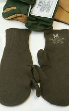 TRIGGER FINGER MITTENS with WOOL LINERS OD GREEN medium size