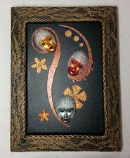 Handmade Venetian Masks Frame for Wall Decoration (Three Spirits)