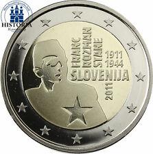 SLOVENIE - 2 € COM. 2011 UNC - FRANC ROZMAN - STANE sous capsule
