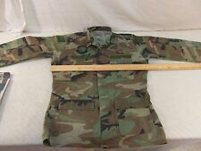 SPECIAL FORCES RANGER BDU JACKET TOP AIRSOFT WOODLAND MEDIUM LONG STAINING