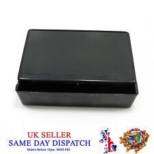 PVC Junction Box 100mm x 60mm Black Waterproof Plastic PVC