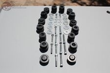 Body Mount Rubber Bushing Bolt Hardware Kit GTO Lemans Tempest Coupe Hardtop New