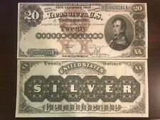 Reproduction Copy 1880 $20 Silver Certificate Cptn. Stephen Decatur US Currency