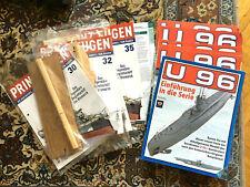 Modellbau Hefte:  21 Hefte U-Boot U96 und 4 Hefte Prinz Eugen