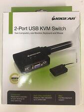 IOGEAR 2-Port USB VGA Cable KVM Switch with Cables GCS22U