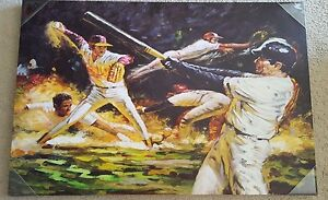 baseball print by Elico LTD 36 x 24 inch GREAT CONDITION