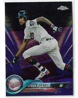 2018 Topps chrome baseball Purple refractor parallel Byron Buxton 188/299