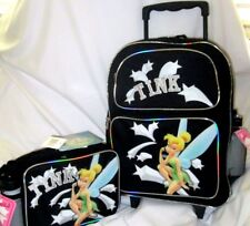 "TINKERBELL TWINKLE STAR ROLLING 16"" BACKPACK, MATCHING LUNCHBOX, & WATER BOTTLE"