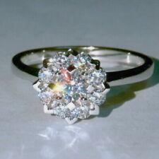 EFFECT 2Ct Natural Diamond 14K White Gold Engagement Wedding Ring R38