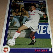 CARD SCORE 1993 ANCONA VECCHIOLA CALCIO FOOTBALL SOCCER ALBUM