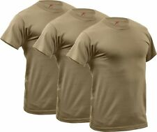 Rothco 3-pack Quick Dry Moisture Wicking T-shirt AR 670-1 Coyote Brown S