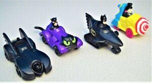 Batman Returns (1991) McDonald's Happy Meal Toys - Complete Set of 4 Vehicles