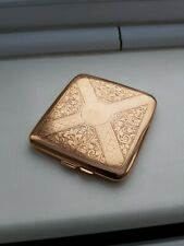 More details for excellent 9ct solid gold antique cigarette case. 1919.  106 grams