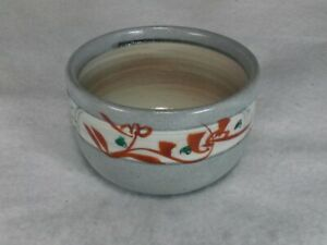 Sake cup small bowl pottery Grape pattern made in japan