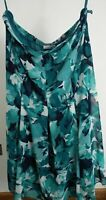 BNWT WOMENS WINDSMOOR SIZE UK 16 GREEN FLORAL CASUAL KNEE LENGTH A LINE SKIRT