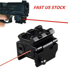Compact Red Dot Laser Tactical Sight Pointer Picatinny Weaver Rail 20mm Mount US