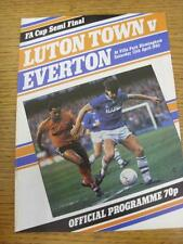 13/04/1985 FA Cup Semi-Final: Luton Town v Everton [At Aston Villa] . Item in ve