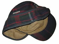 Polo Ralph Lauren Wool Flannel Red Plaid Utility Sportswear Hat Hunting Cap L