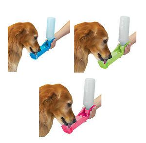 Portable Water Bottle for Dogs Travel Hiking 17 oz Handi Drink - Choose Color