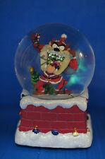 Santa Claus Taz Musical Snowglobe Figurine Looney Tunes 13960