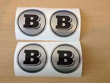 4x BRABUS centre cap stickers