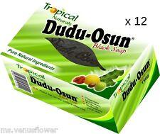 12 x Tropical Naturals Dudu Osun African Black Soap,Psoriasis,Eczema,Acne,Fungus