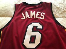 LeBron James Miami Heat red jersey XL Adidas