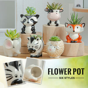 Cute Animal Flowerpot Succulent Plants Flower Pot Planter Home Garden Decor NEW