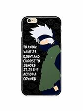 Naruto Kakashi Quotes Iphone 4s 5 6 7 8 X XS Max XR 11 Pro Plus Case Cover SE 24