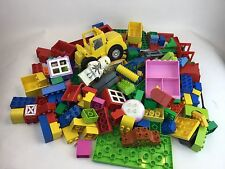 BIG 5 Pounds Lot Lego DUPLO Blocks Bricks Cars  - 100% Lego!