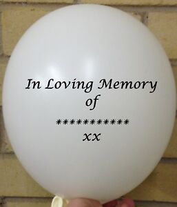Personalised In Loving Memory Balloons Printing - Forever in our Heart Funeral