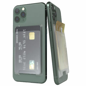 Card Holder for Smartphones Compartment Phone Self Adhesive Ec-Card Transparent