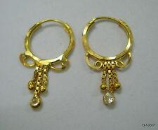 traditional design 18kt gold earrings hoop earrings infant earring pair