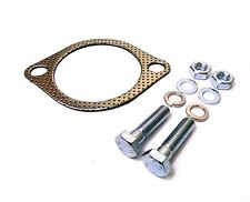 "Universal 3"" Inch 76mm 2 Bolt Exhaust Downpipe Gasket & Bolts Nuts Washers"