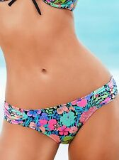 VICTORIAS SECRET The Knockout Bikini Bottoms - Black Garden Floral in Medium