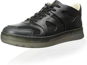 Alexander McQueen by PUMA McQ MOVE LO Mens Fashion Black Leather Sneakers Shoes
