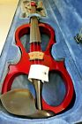 Aileen 4/4 RED Electric Violin style VE008B + FOAMED CASE+BOW+HEADPHONE+ROSIN for sale