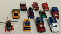 Matchbox Diecast Toy Models - Collection of 11 Trucks Cars Helicopter - VNM