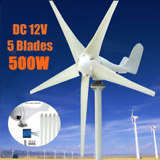 500W 5 Blade Wind Turbine Generator DC 12V With Waterproof Charge Controller US