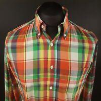 GANT Mens Shirt MEDIUM Long Sleeve Multicoloured Fitted Check Cotton