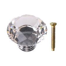 30/40/50 mm Diamond Crystal Glass Door Knob Drawer Cupboard Furniture Handle DIY